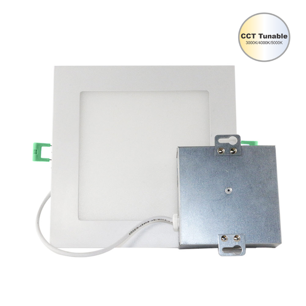 Led 4''in 9 Watt Square Ultra Slim Wafer Ceiling Light With CCT Tunable Switch 3000K/4000K/5000K