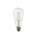 LED Filament ST21 Bulb - Clear Glass- Dimmable - 6 Watt - 2700K -<br> Warm White - ONBULBLED