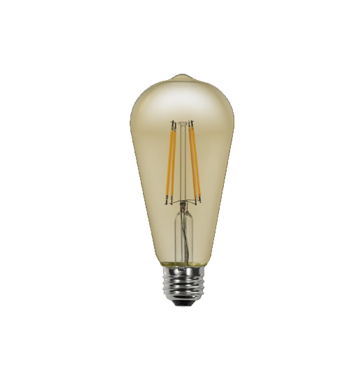 LED Filament ST21 Bulb - Antique- Dimmable - 6 Watt - 2200K - ONBULBLED
