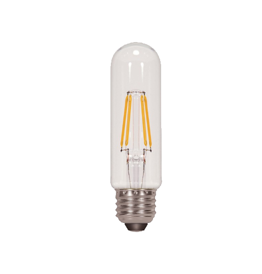 LED Filament T10 Bulb - Clear Glass- Dimmable - 4 Watt - 4000K -<br> Cool White - ONBULBLED