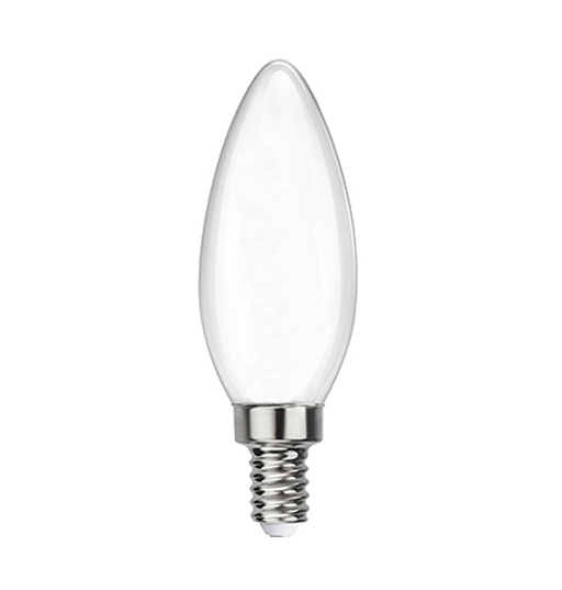Frosted LED Filament Chandelier Bulb - Torpedo Tip - 6 Watt - 4000K -<br> Cool White - ONBULBLED