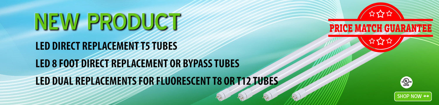 LED T8 and U-Bend Tubes LED Direct Install for Fluorescent T8 Tubes LED Bypass Ballast for Fluorescent T12 Tubes DLC Approved