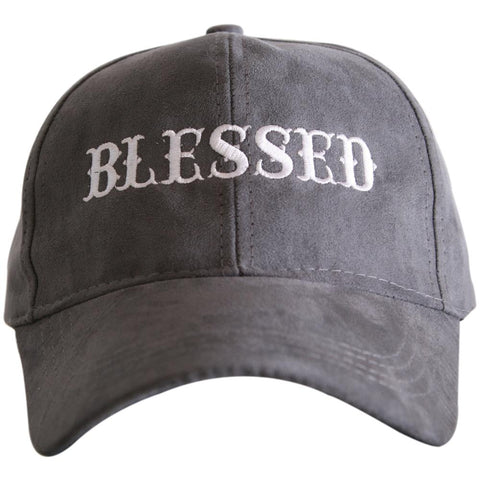 """Blessed"" Ultra Suede Baseball Hat"