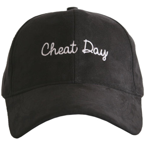 """Cheat Day"" Ultra Suede Baseball Hat"