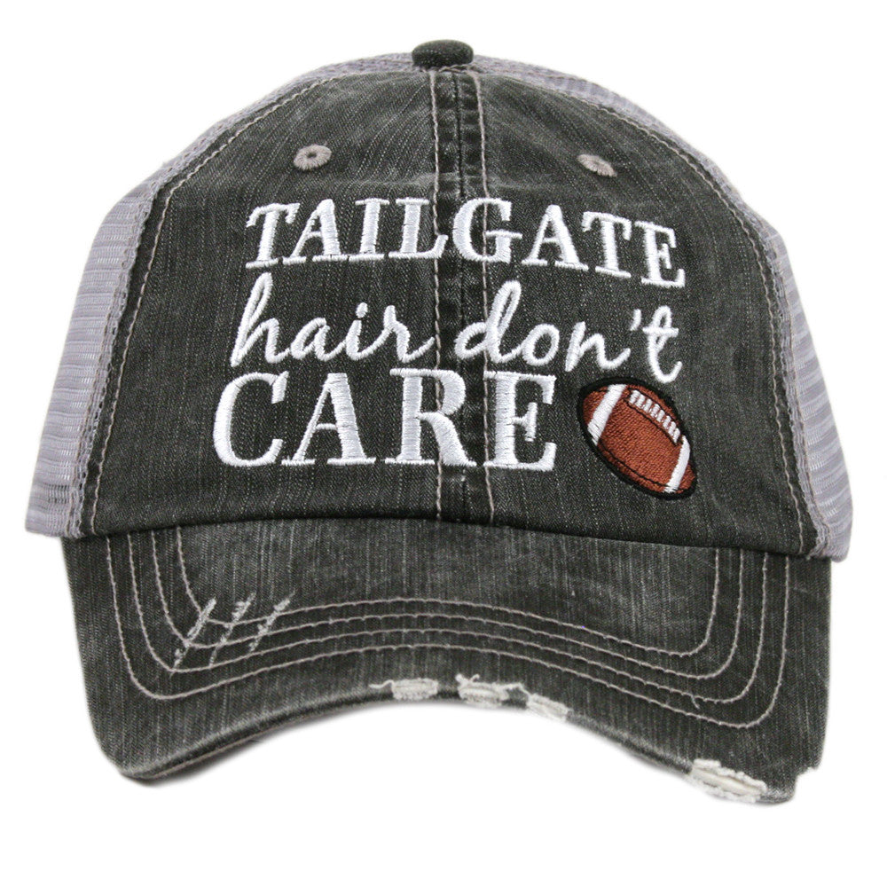 """Tailgate Hair Don't Care"" Trucker Hat 