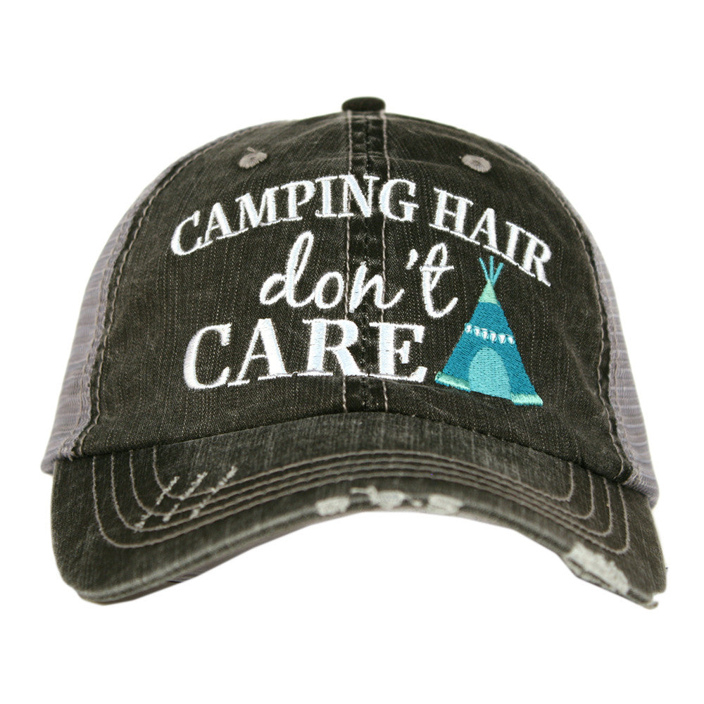 """Camping Hair Don't Care"" Trucker Hat 