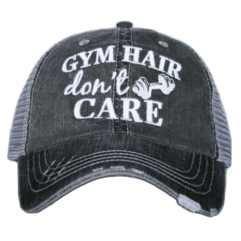 """Gym Hair Don't Care"" Trucker Hat 