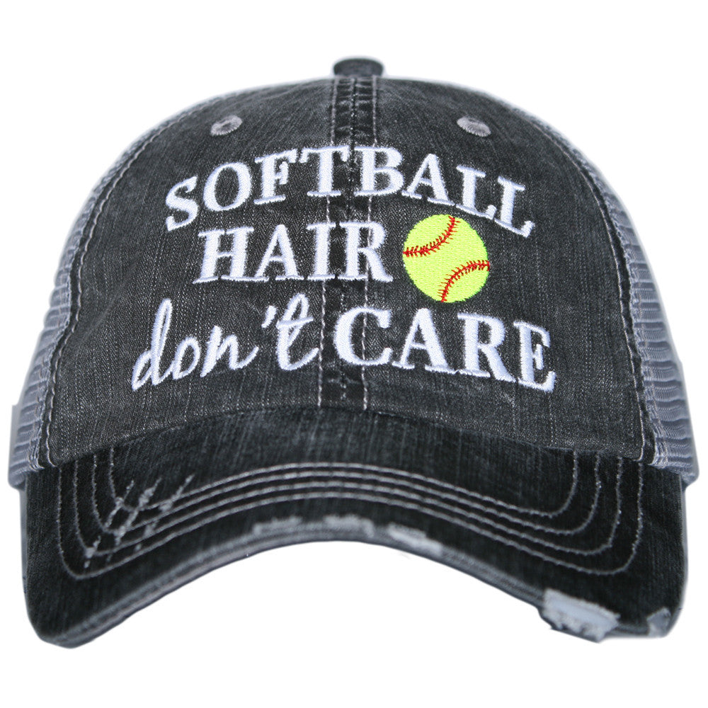 """Softball Hair Don't Care"" Trucker Hat 
