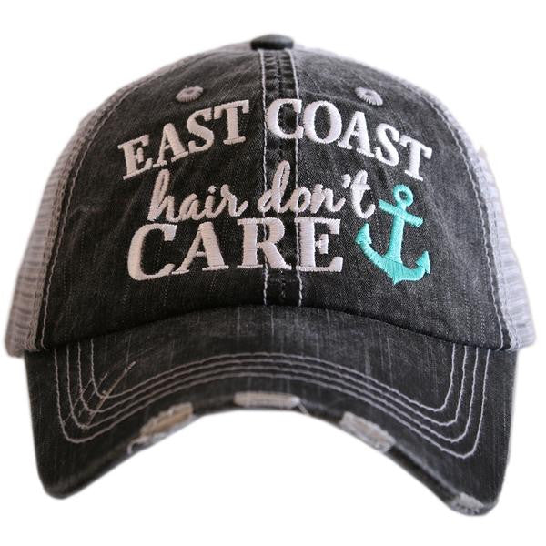 """East Coast Hair Don't Care"" Trucker Hat"