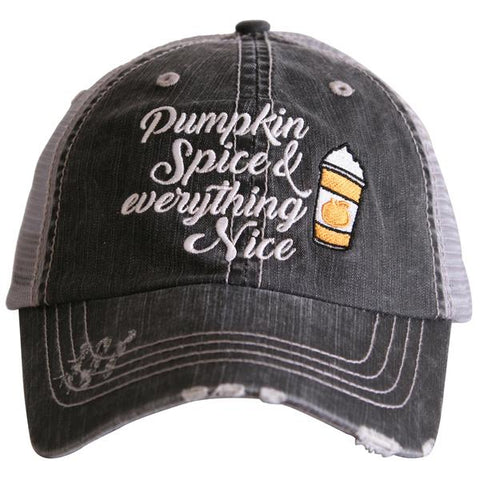 """Pumpkin Spice & Everything Nice"" Trucker Hat"