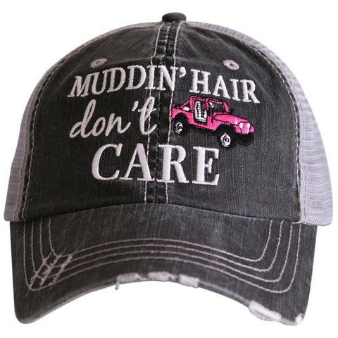"""Muddin' Hair Don't Care"" Trucker Hat"