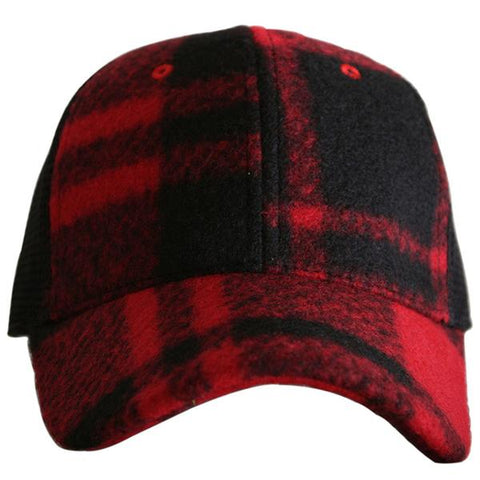 Blank Plaid Trucker Hat