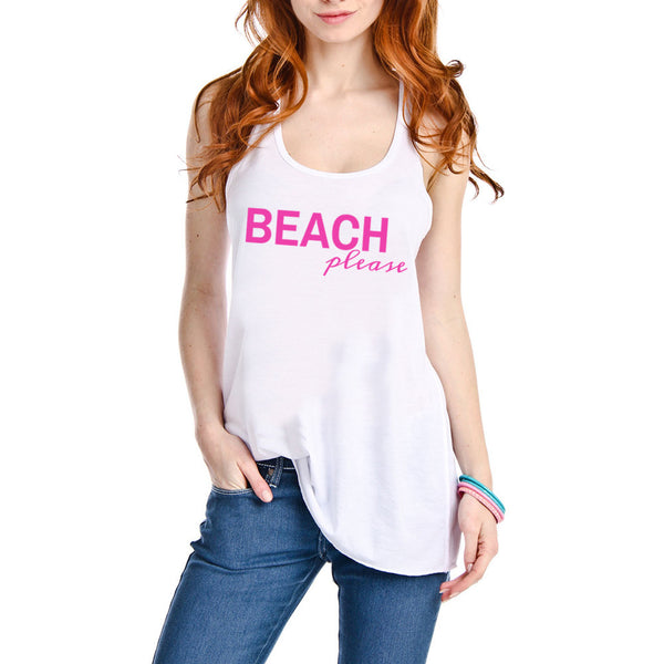 """Beach Please"" Tank Top 
