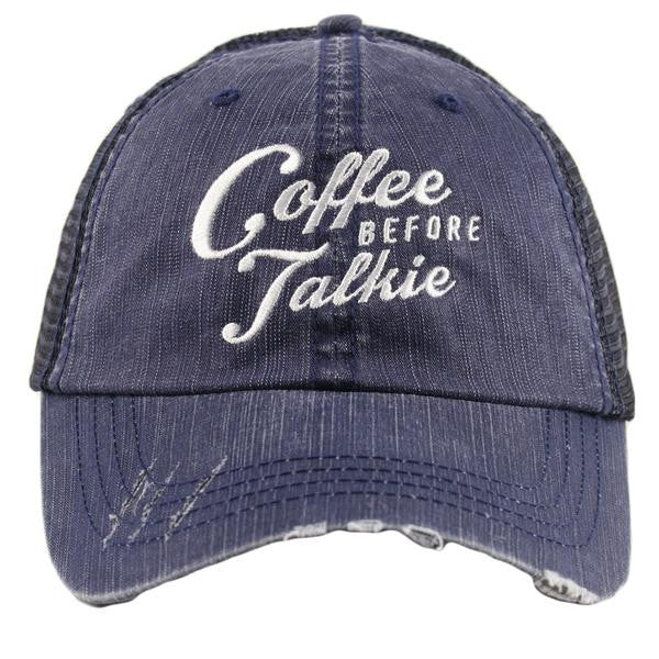 Coffee Before Talkie Trucker Hat | Beri and Nicole's Boutique | Women's Clothing, Accessories, Jewelry, and Home Decor and Goods