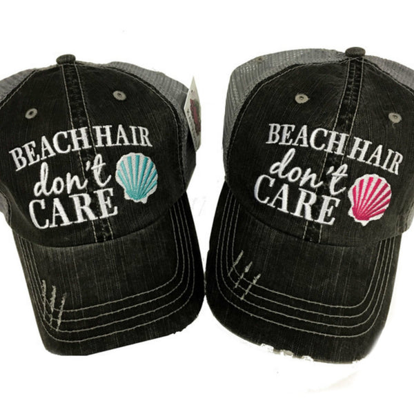 """Beach Hair Don't Care"" Trucker Hat 
