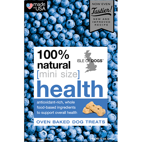 Mini-Health 100% Natural Baked Treats - Featuring Whole Oats and Blueberries