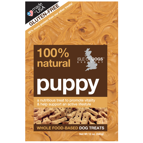 Puppy 100% Natural Baked Treat -  Featuring Peanut Butter and Protein