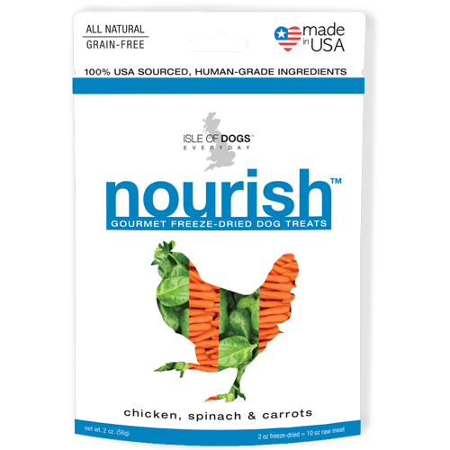 Nourish Freeze-Dried Treat - Featuring Chicken, Spinach & Carrots