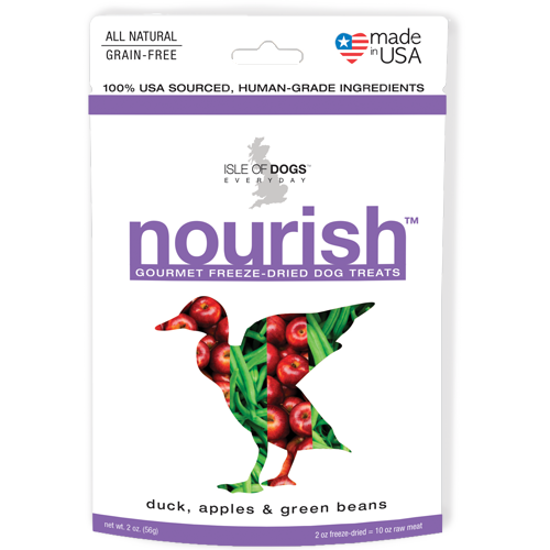 Nourish Freeze-Dried Treat - Featuring Duck, Apples & Green Beans