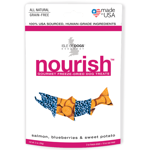 Nourish Freeze-Dried Treat - Featuring Salmon, Blueberries & Sweet Potato
