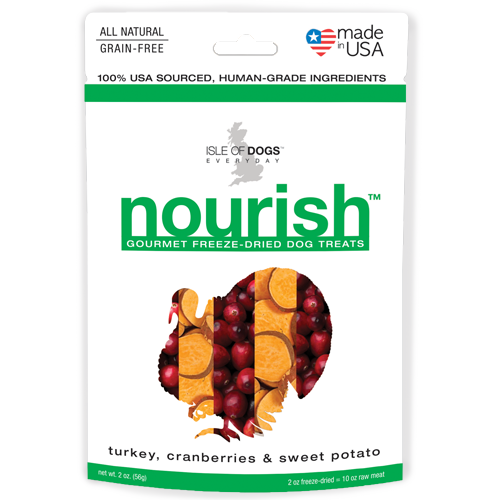 Nourish Freeze-Dried Treat - Featuring Turkey, Cranberries & Sweet Potato