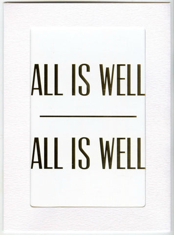 "5"" x 7"" All is Well Cards"
