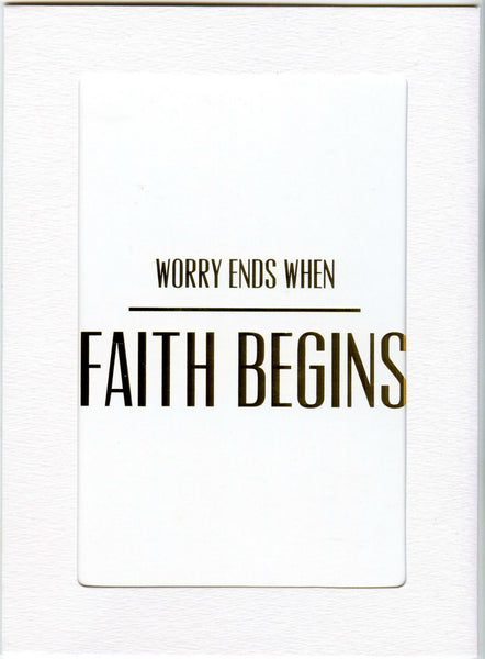"5"" x 7"" Worry Ends Cards"