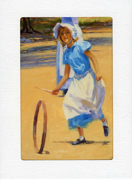 "5"" x 7"" Girl with the Hoop Cards"