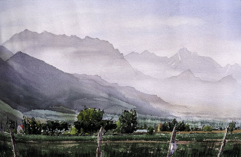 Original Watercolor - Along the Wasatch
