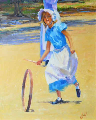 Girl with the Hoop Original