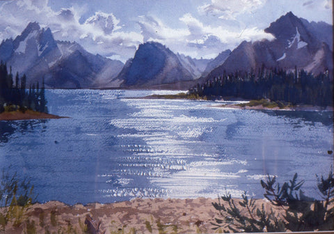 Original Watercolor - Jenny Lake, Grand Tetons