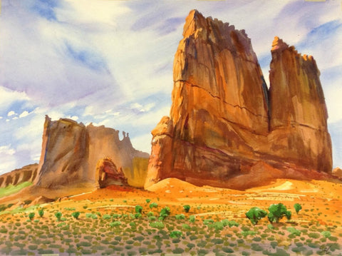 Original Watercolor - Monument Valley