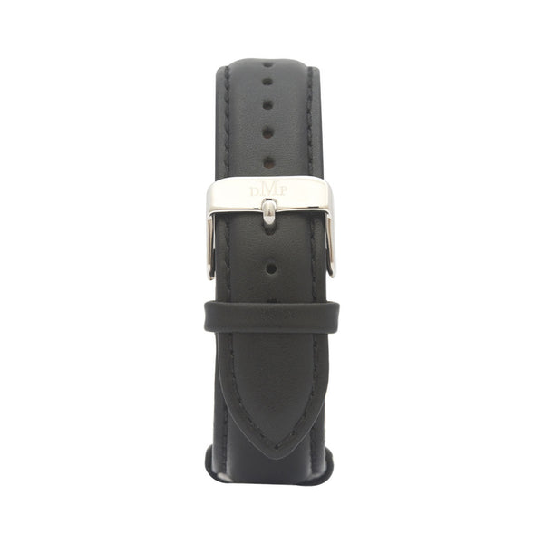 Black Leather Strap Silver Buckle