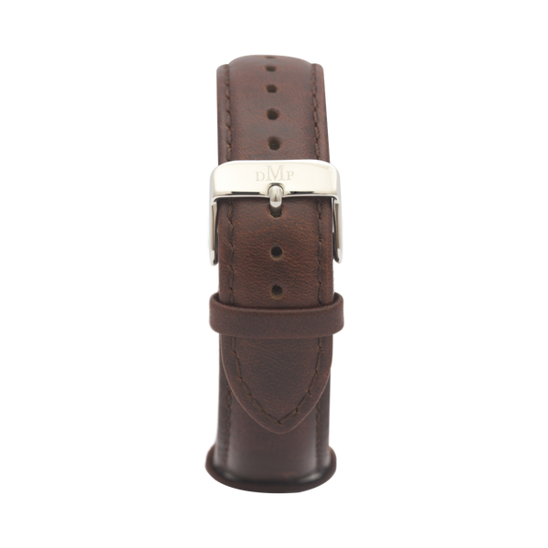 Brown Leather Strap Silver Buckle