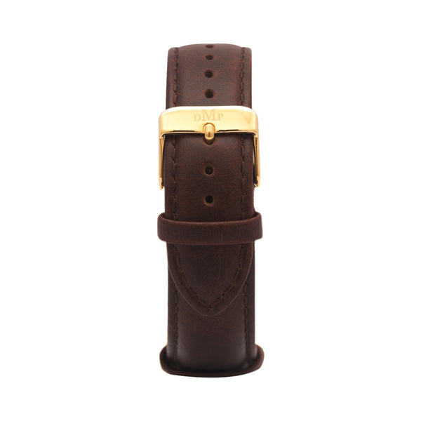 Brown Leather gold Australian Designer Gold Watch Fob Brown Leather strap Blue Nato Strap Luxury