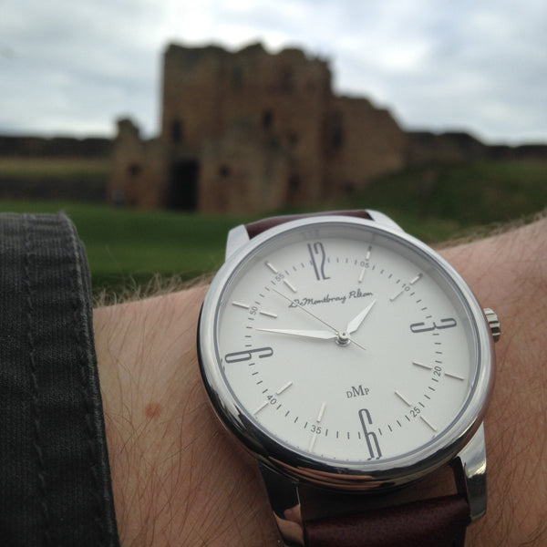Northumberland Castle Australian Designer Silver Watch Fob Brown Leather strap Black Nato Strap Luxury