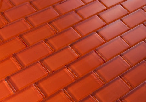 BRICK DIMENSIONS COLLECTION - Orange Glass - 1x2""