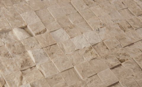 SPLIT FACE - Botticino Beige Honed - 1x1""