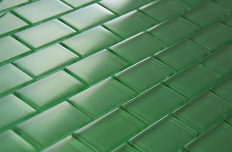 BRICK DIMENSIONS COLLECTION - Light Green Glass - 1x2""