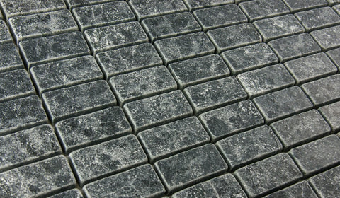 LADRILLO SOAPSTONE - Grey Tumbled Honed - 1x2""