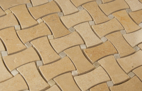WYOMING BASKET WEAVE - Beige Mix Polish - 12x12""