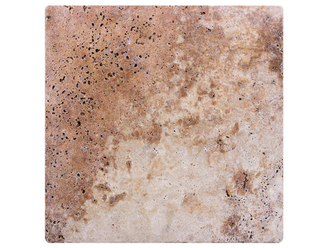 TRAVERTINE TUMBLED MEDIUM - Tumbled Travertine -  12X12""