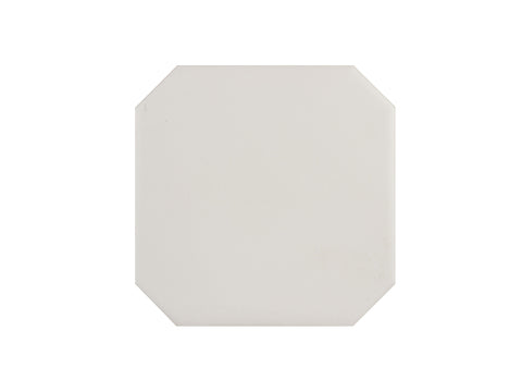 OCTAGON - White Glazed Ceramic - 6x6""