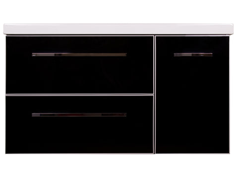 "Funky 42"" Vanity Set - Shiny Black"
