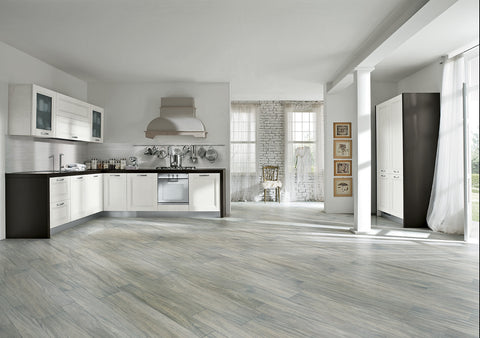 LIGNUM COLLECTION - Moabi Grigio Matte Porcelain - 7x38""