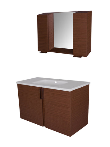 AMAZON VANITY SET - Rige Teak Flat - 40""