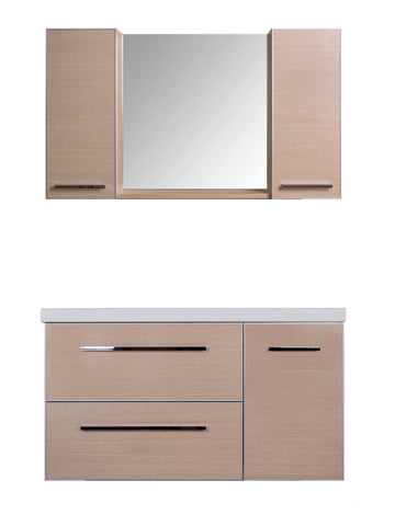 FUNKY VANITY SET - Light Oak Flat - 42""