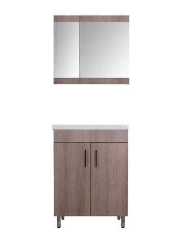 MILITOS VANITY SET - Rovere Brown - 24""