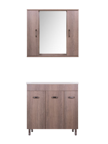 MILITOS VANITY SET - Rovere Brown - 32""