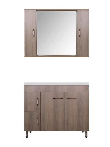 MILITOS VANITY SET - Rovere Brown  - 40""